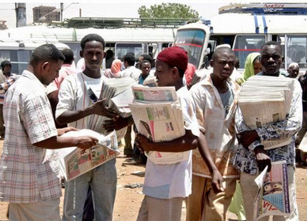 إغلاق عدد كبير من دور الصحف في شمالي السودان هذا العام
