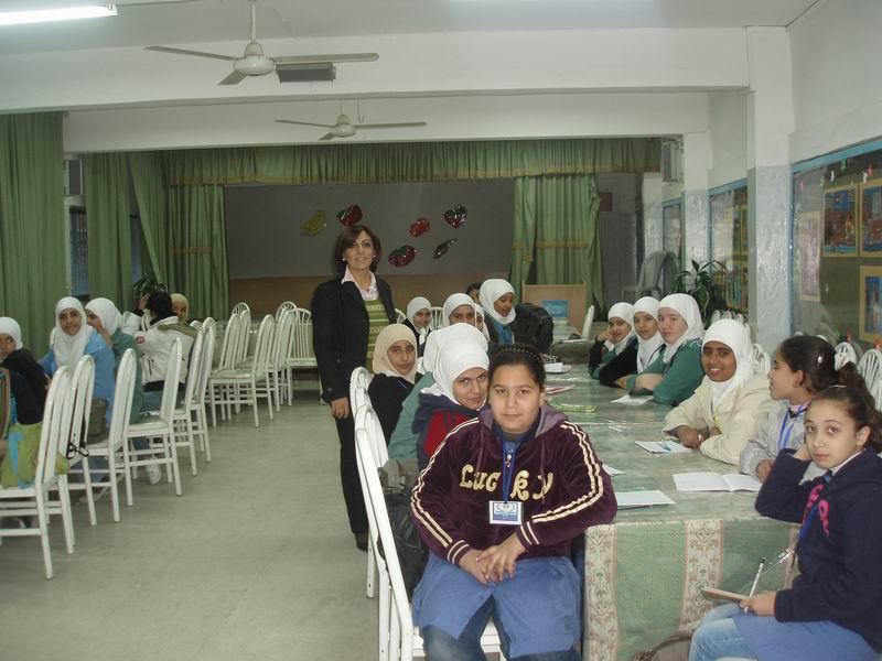 محاضرة حول الاعلان العالمي لحقوق الانسان في مدرسة مخيم الوحدات الاعدادية الثالثة
