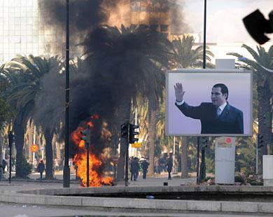 حرق وتخريب رافق المظاهرات