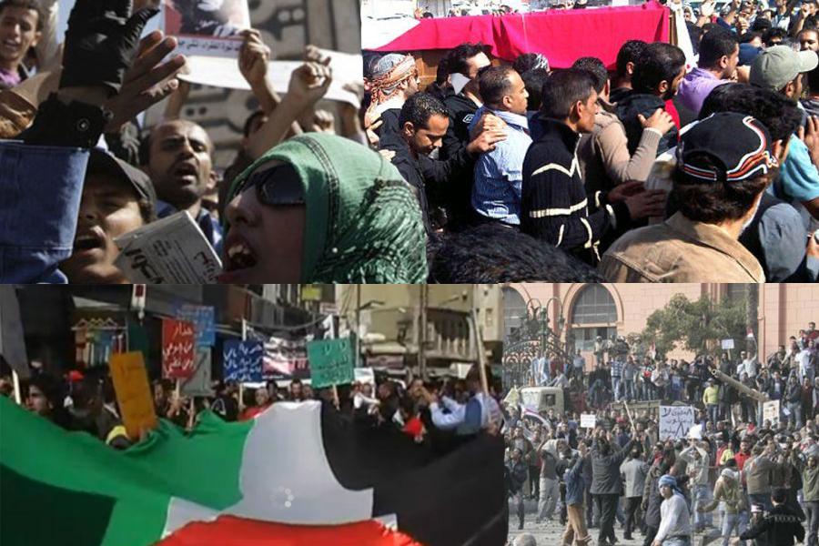 المظاهرات تجتاح العالم العربي مطالبة بالاصلاح والتغيير