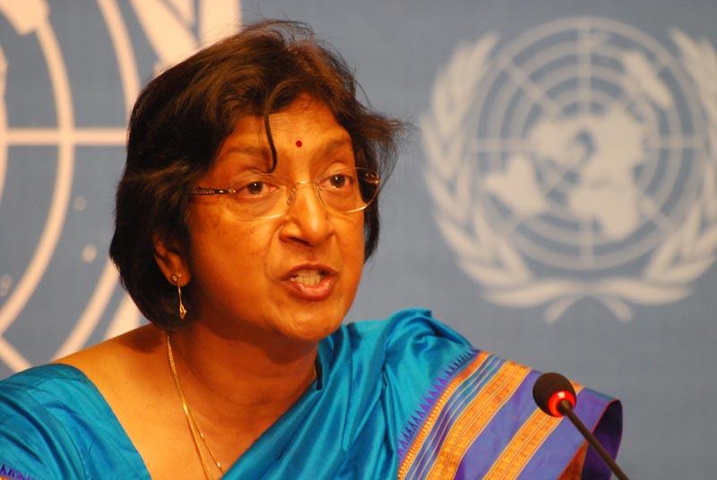 مفوضة الامم المتحدة السامية لحقوق الإنسان نافي بيلاي