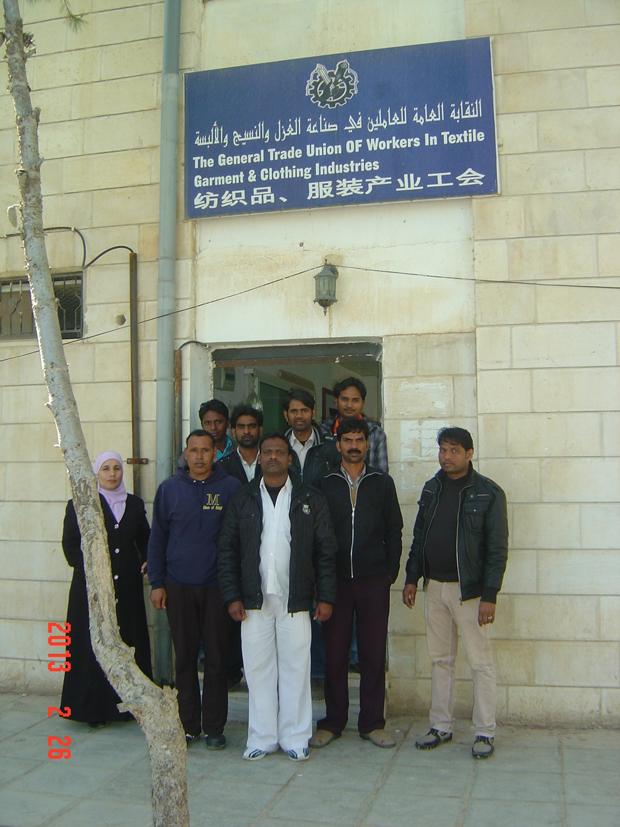 مركز عمان لدراسات حقوق الإنسان يتابع قضية العمالة الوافدة في مدينة الحسن في اربد