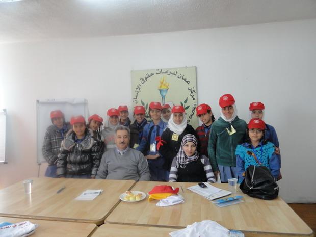 Photo of زيارة مدرسة اناث البقعة الابتدائية الثالثة  الى مركز عمان لدراسات حقوق الإنسان