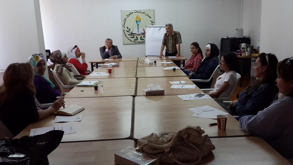 صورة اختتام الدورة السابعة للمشاركات في الدفعة الرابعة   في برنامج  المعهد الأردني للقيادات النسائية
