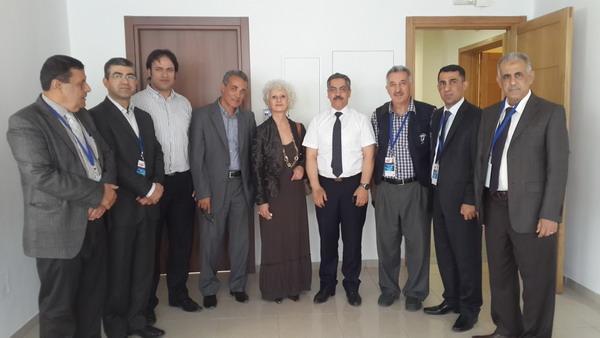 رئيس الهيئة العليا المستقلة للانتخابات الدكتور محمد شفيق صرصار مع فريق شبكة الانتخابات