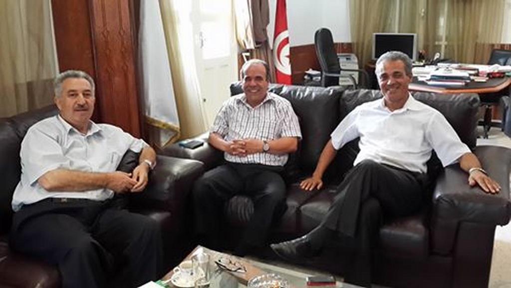 صورة لقاء مع رئيس الجامعة التونسية