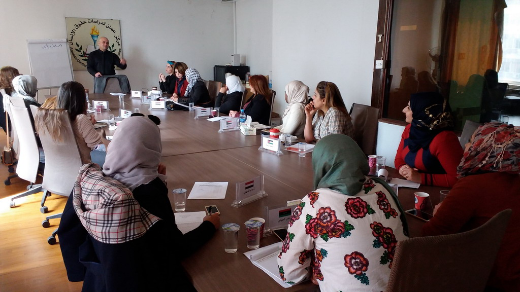 صورة اختتام الدورة الثالثة للمشاركات في الدفعة السابعة في برنامج المعهد الأردني للقيادات النسائية