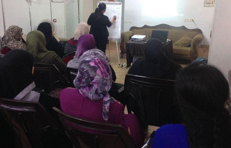 Photo of دورة تدريبية حول حقوق الإنسان والنوع الاجتماعي في مخيم البقعة