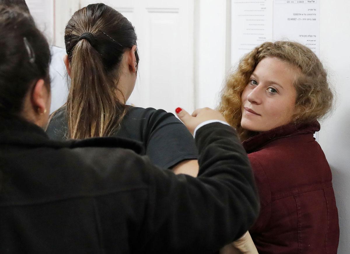 صورة أطلقوا سراح الناشطة الفلسطينية عهد التميمي البالغة من العمر 16 عاماً