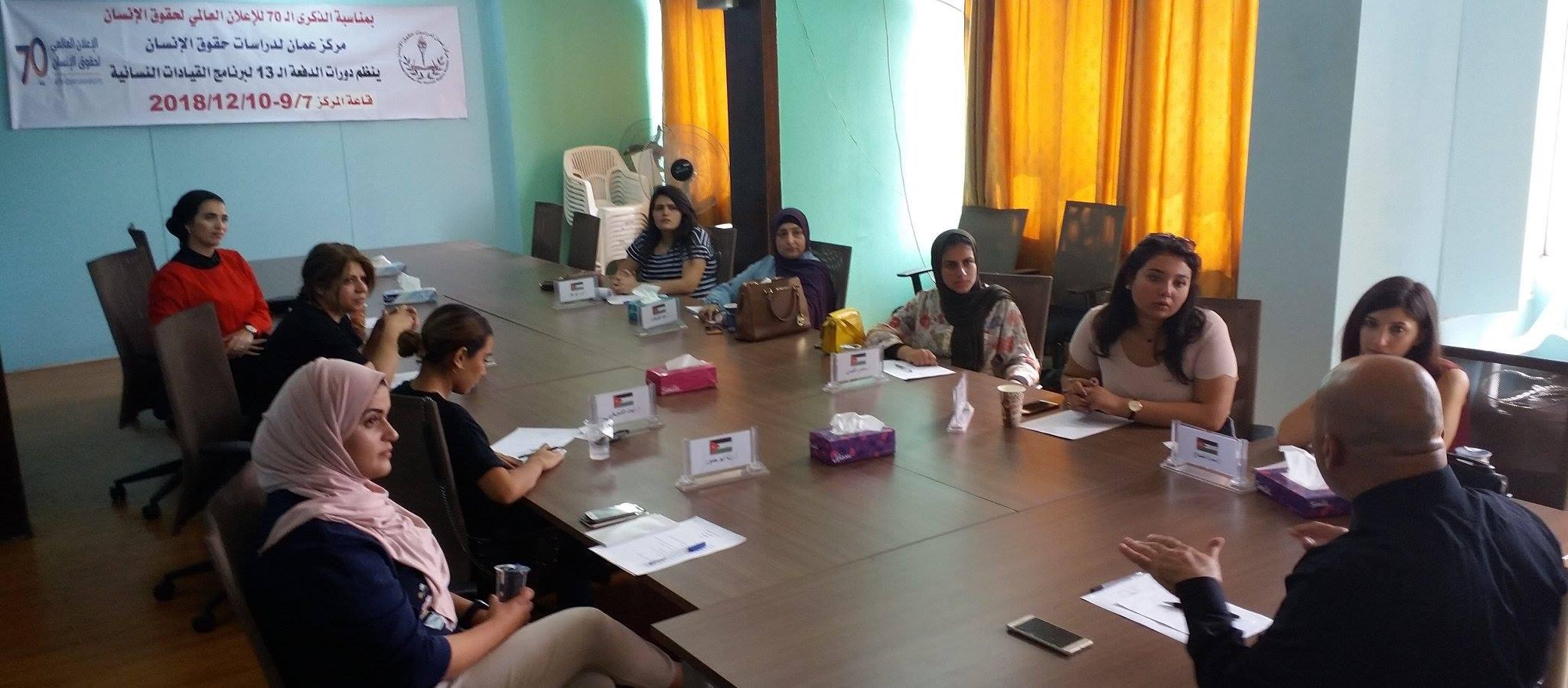 Photo of اختتام الدورة السادسة للمشاركات في الدفعة الـ 13في برنامج المعهد الأردني للقيادات النسائية
