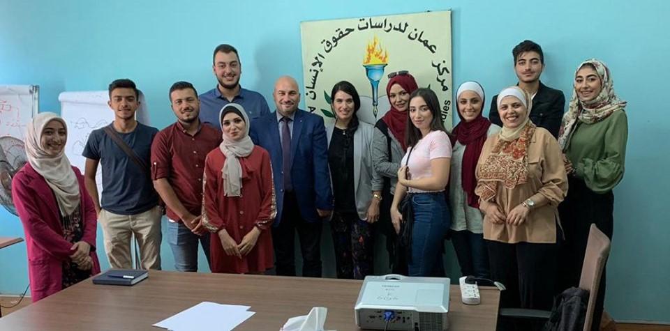 صورة اختتام اليوم الرابع عشر للمشاركين والمشاركات في دورة القيادات الطلابية في الجامعات الأردنية